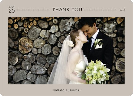 Wedding Photo Thank You Notes - Beige