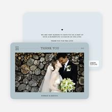 Wedding Photo Thank You Notes - Blue