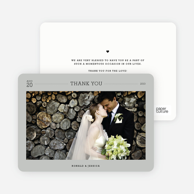 Wedding Photo Thank You Notes - Grey
