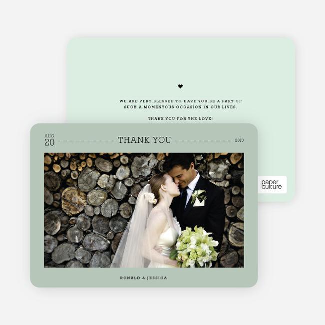 Wedding Photo Thank You Notes - White
