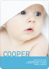 What's My Name Birth Announcements - Blue Salt