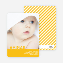 What's My Name Birth Announcements - Lemon Pie