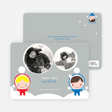 Winter Eskimos Holiday Photo Cards - Royal Blue