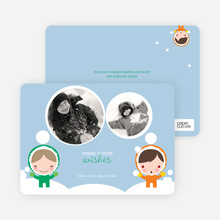 Winter Eskimos Holiday Photo Cards - Emerald Green