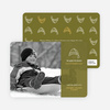 Winter Sledding Holiday Photo Card - Olive Green