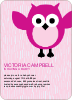Wise Owl Baby Shower Invitations - Fuchsia