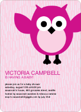 Wise Owl Baby Shower Invites - Fuchsia