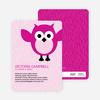 Wise Owl Baby Shower Invitations - Fuchsia