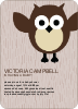 Wise Owl Baby Shower Invites - Front View