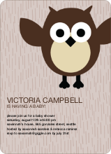 Wise Owl Baby Shower Invites - Brown