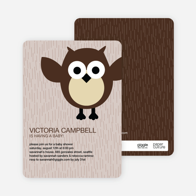 Wise owl baby shower invitations paper culture filmwisefo
