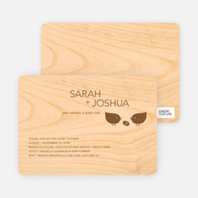 Wood Block Baby Shower Invitations - Chocolate