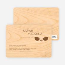 Wood Block Baby Shower Invitations - Chocolate