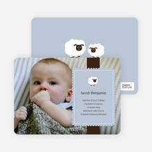 Your Little Lamb Photo Birth Announcements - Dusty Blue