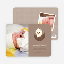 Your Newborn Has Hatched: Modern Baby Announcement - Coffee