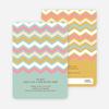 Zig Zag Pinterest Tag Baby Shower Invitations - Blue