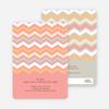 Zig Zag Pinterest Tag Baby Shower Invitations - Pink