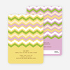 Zig Zag Pinterest Tag Baby Shower Invitations - Yellow