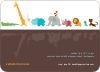 Zoo Parade Modern Birthday Invitation - Rosy Brown
