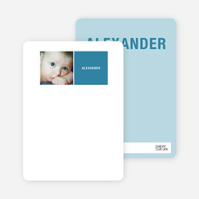 All Square Personalized Photo Note Cards - Cadet Blue