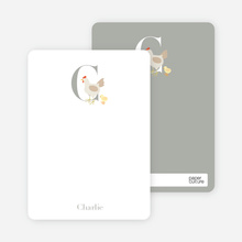 C Chicken Monogram Stationery - Ecru