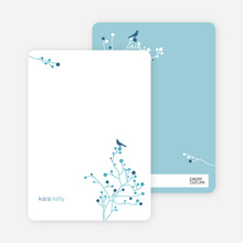 Bird Branch Personalized Stationery - Blueberry