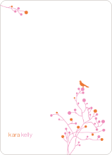 Bird Branch Stationery - Papaya