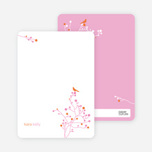 Bird Branch Personalized Stationery - Papaya