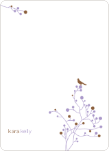 Bird Branch Stationery - Cocoa
