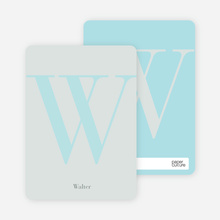 Distinct Letters Personalized Note Cards - Sage