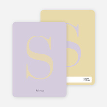 Distinct Letters Personalized Note Cards - Lavender