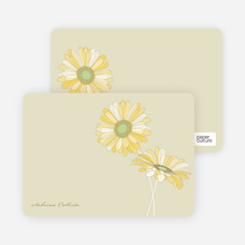 Elegant Flowers: Personal Stationery - Rich Soil