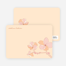 Elegant Flowers: Personal Stationery - Frangipani Orange