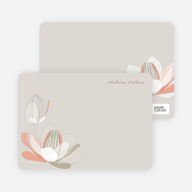 Elegant Flowers Personal Stationery - Dark Clay