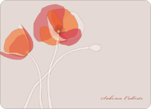 Elegant Flowers: Personal Stationery - Burnt Orange