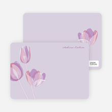 Elegant Flowers: Personal Stationery - Pretty Purple