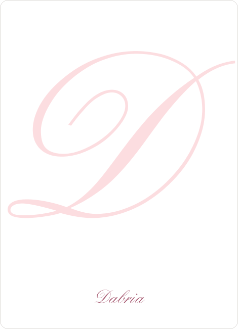 Elegant Letters Personalized Note Cards - Blush