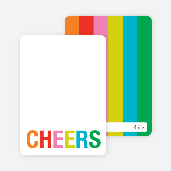 Excitement Series: Cheers Note Cards - Tomato Red