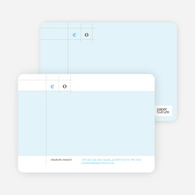 Modern Lines Note Cards - Sky Blue