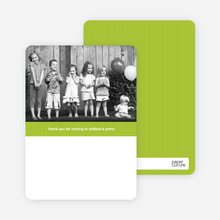 Ribbon Photo Thank You Cards - Lime Green