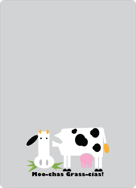Moo–chas Grass–cias Cow Stationery - Nickel