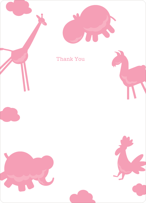 Note Cards: 'Animal Downpour' cards. - Cotton Candy