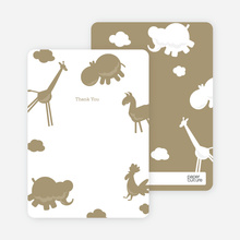 Animal Downpour Note Cards - Mushroom