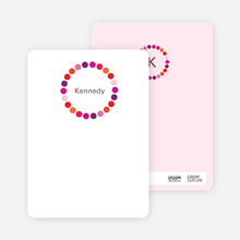 Note Cards: 'Circles' cards. - Fuchsia