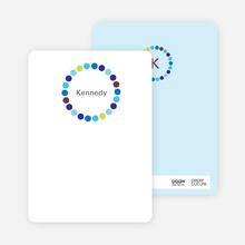 Circle Note Cards - Rich Blue