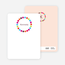 Circle Note Cards - Multi
