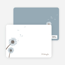 Note Cards: 'Classic Dandelions' cards. - Mystic Blue