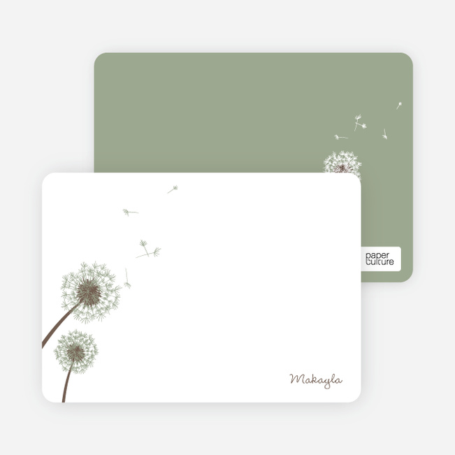 Note Cards: 'Classic Dandelions' cards. - Celadon