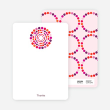 Dots Baby Shower Notecards - Fuchsia