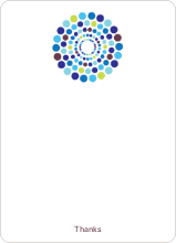 Dots Baby Shower Notecards - Rich Blue